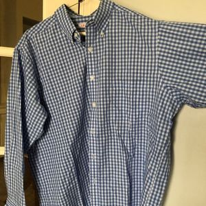 Blue and White Plaid IZOD Button Down